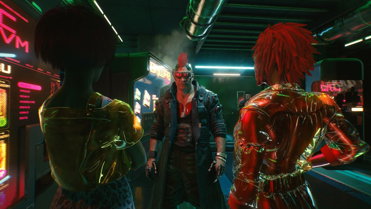 Talking to two characters in Cyberpunk 2077