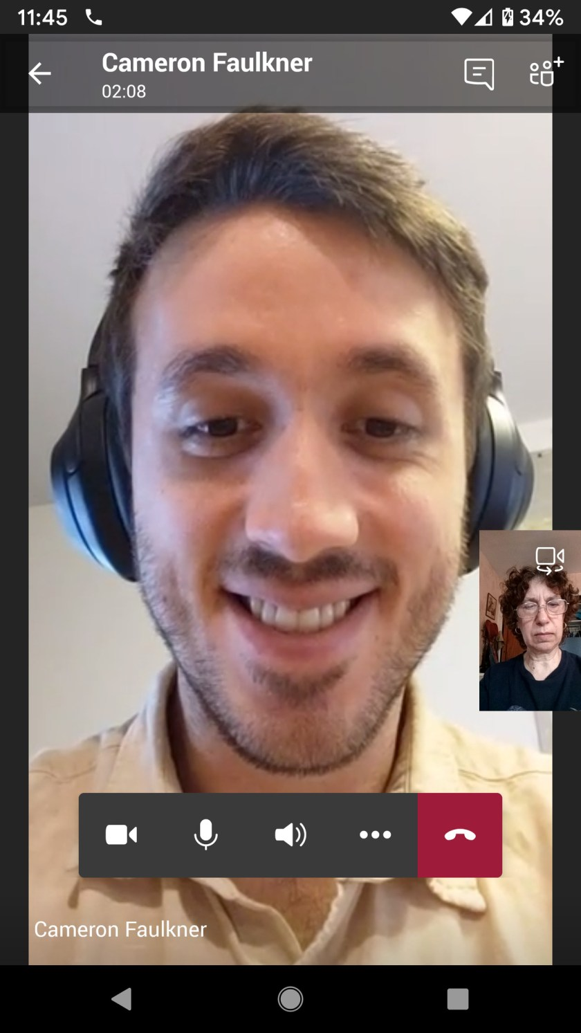 Teams' video meeting features are basic, but effective.