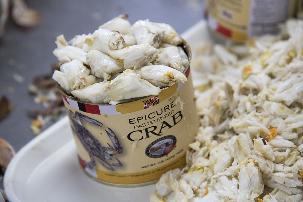 A can of jumbo lump crab meat.