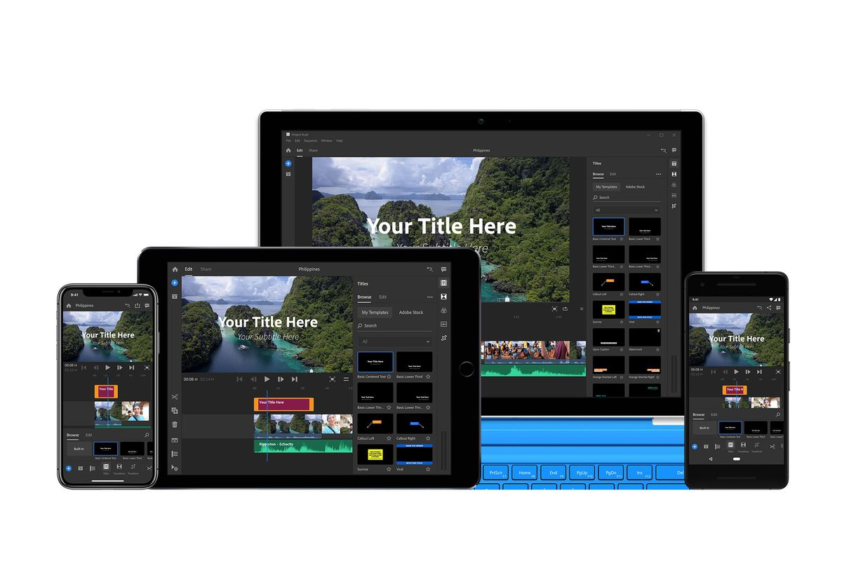 Adobe Launches Premiere Rush Cc A Video Editing App Made For Youtubers