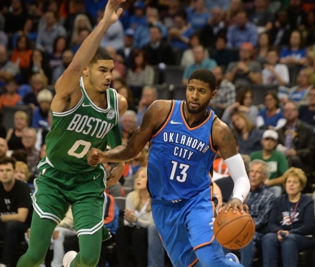 Kyrie Irving Al Horford Rescue Celtics In Second Half Boston Beats Oklahoma City