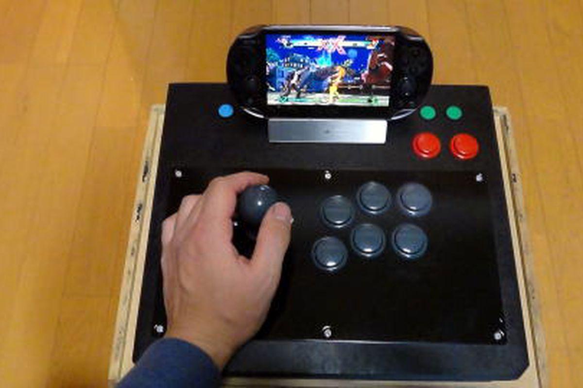 Arcade stick hack turns PS Vita into a mini Street