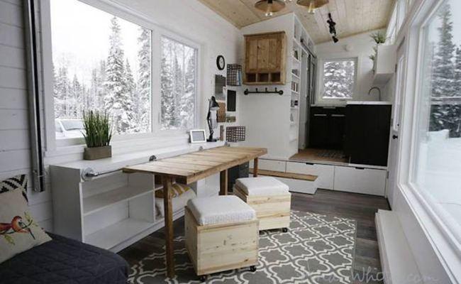 Genius Tiny House Is Full Of Diy Transforming Furniture