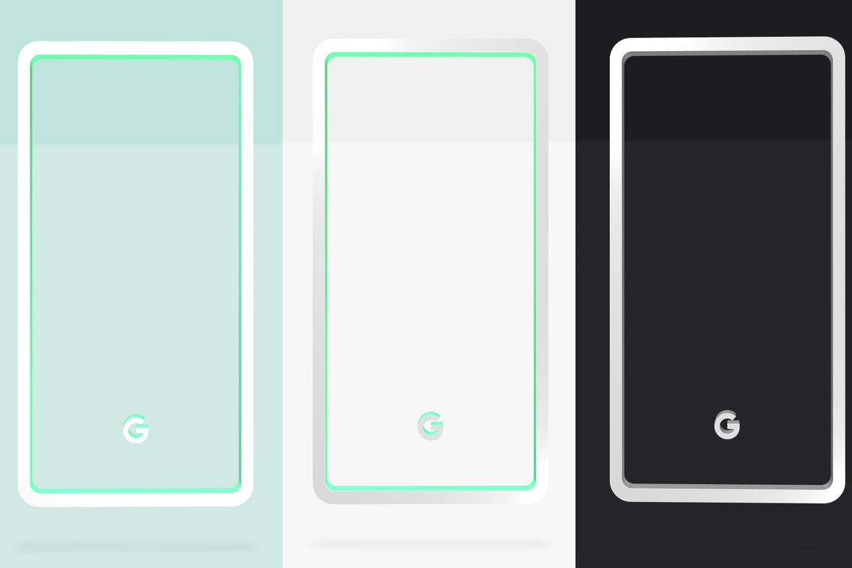 hight resolution of google reveals pixel 3 colors mint white and black
