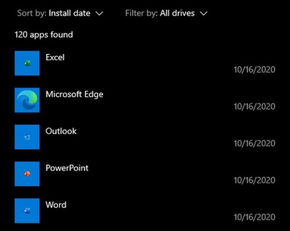 A screenshot of the web apps that Microsoft force-installed on my PC.