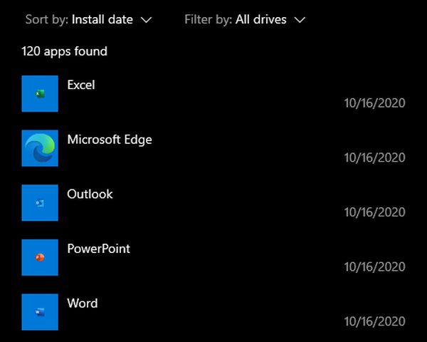 Screenshot of web applications that Microsoft forcibly installed on my PC.