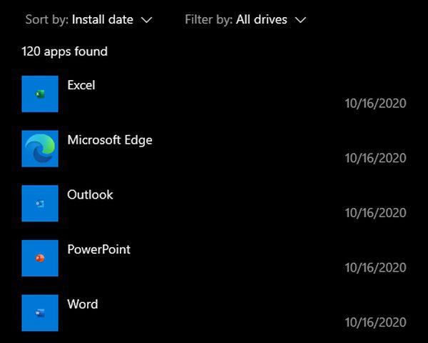 Uma captura de tela dos aplicativos da web que a Microsoft instalou à força no meu PC.