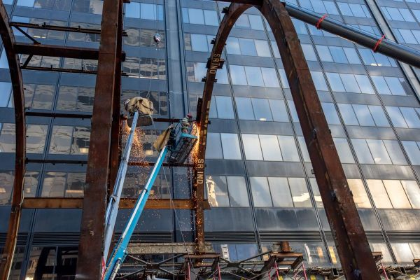 Willis Tower Renovation Lunchbox Entrance Demolished - Curbed Chicago