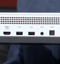 xbox one s console has no kinect port requires usb adapter update polygon [ 1400 x 1400 Pixel ]