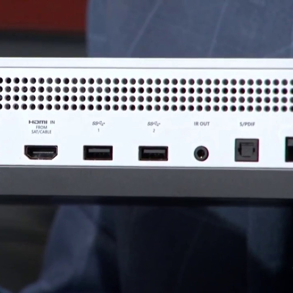 medium resolution of xbox one s console has no kinect port requires usb adapter update polygon