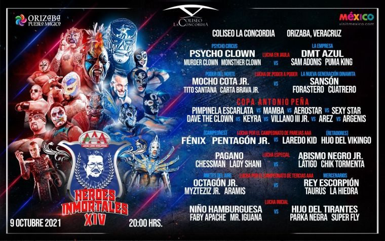 Lucha Bros to defend AAA tag titles at Héroes Inmortales XIV against stars of the future