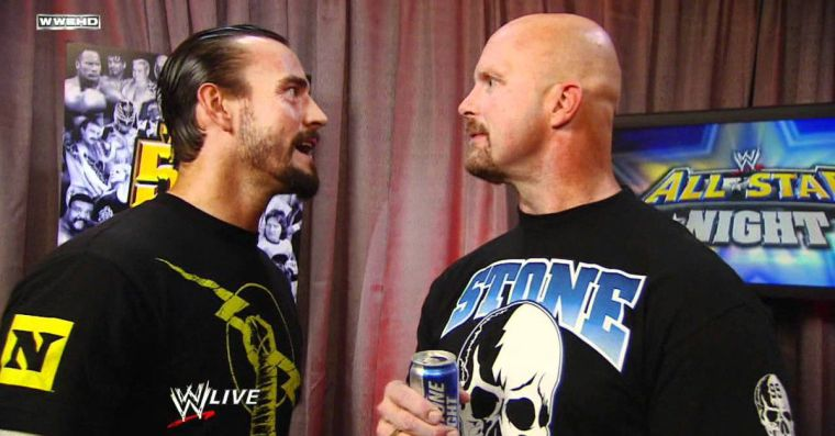 The closest we'll ever get to a CM Punk/Stone Cold Steve Austin feud