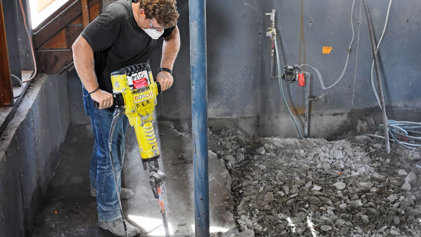 how to break up and remove concrete