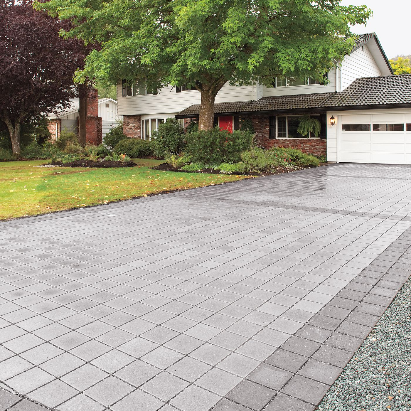 driveway pavers installing permeable