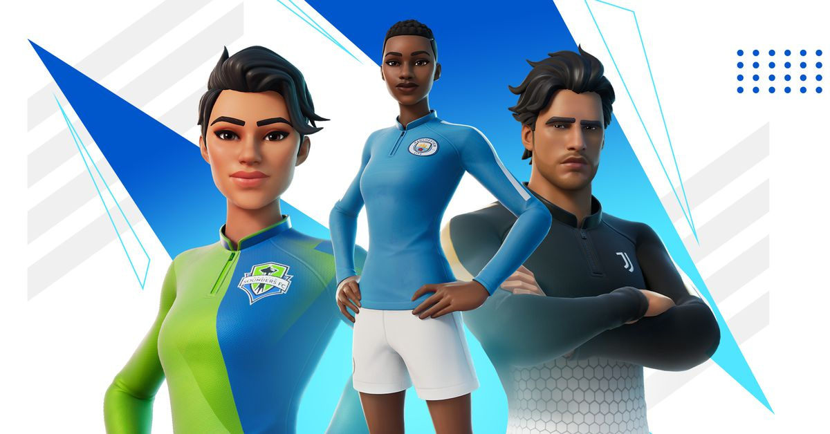 Fortnite's new soccer skins feature big teams like Manchester City and Juventus