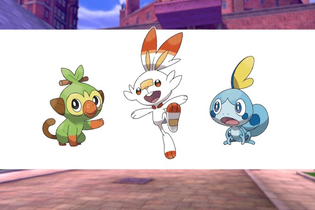 Pokémon starters from Sword and Shield