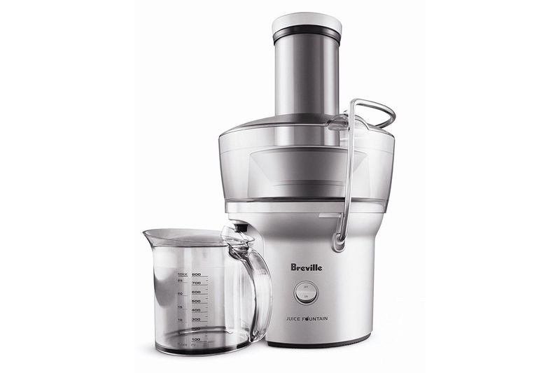 A stainless steel Breville juicer