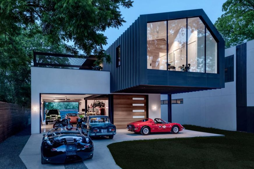 Modern home was designed for the car lover - Curbed