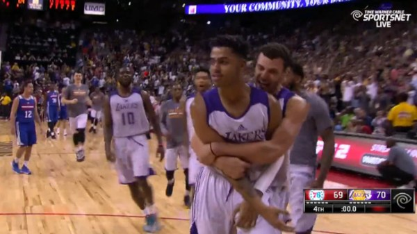 'angelo Russell Drains Game-winner Ice In