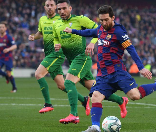 Barcelona Vs Eibar La Liga Final Score   Lionel Messi Shines