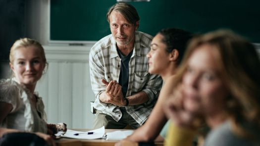 mads mikkelsen teaching a group of students