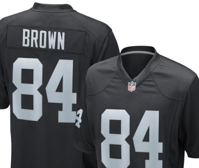 Heres What The New Antonio Brown Oakland Raiders Jerseys Look