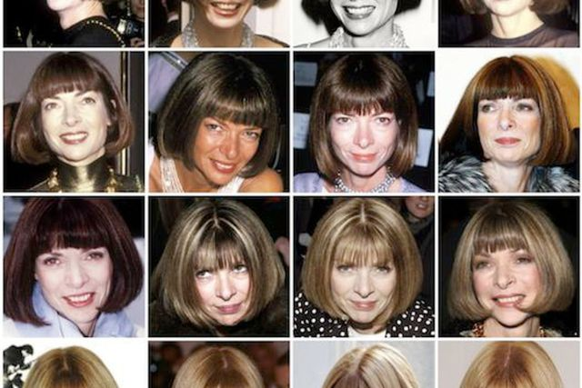 variations on a bob: anna wintour's hair throughout the ages