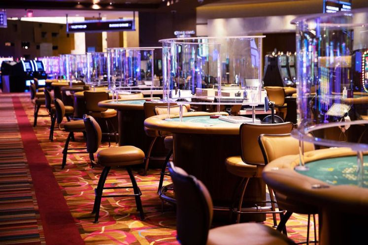 The gaming floor of Rivers Casino in Des Plaines, pictured before it reopened July 1, 2020, following a three-month shutdown due to the coronavirus pandemic.