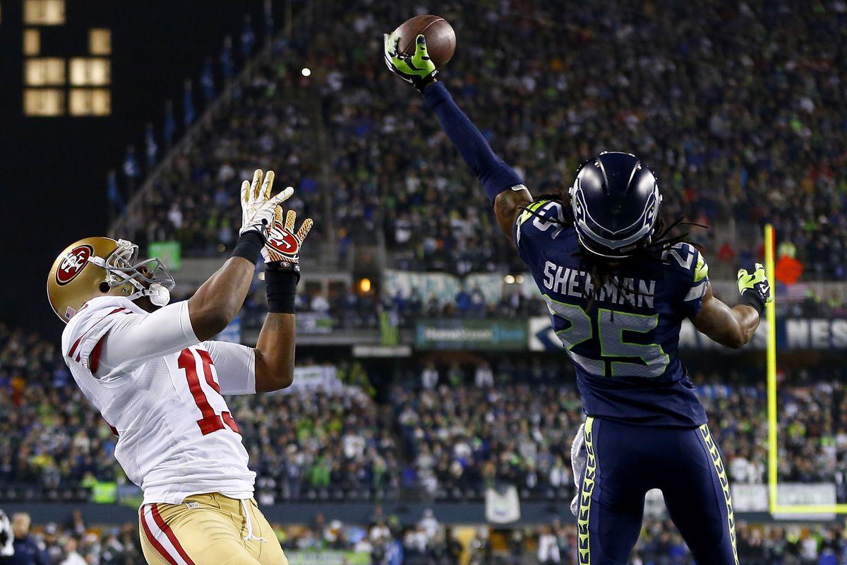 Image result for seahawks vs 49ers 2013 championship