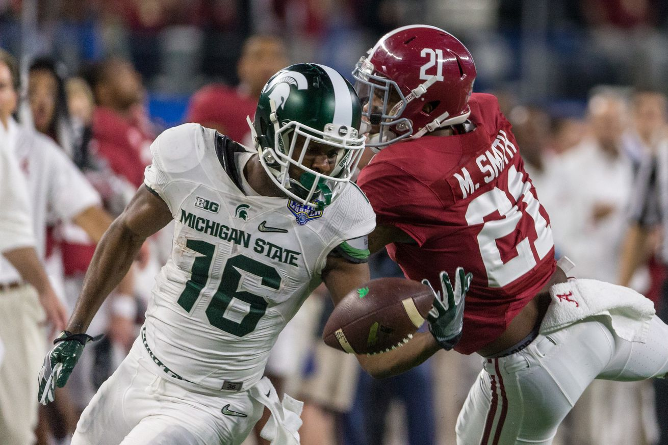 NCAA FOOTBALL: DEC 31 College Football Playoff Semifinal - Cotton Bowl- Michigan State v Alabama