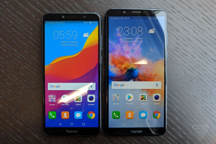 Honor 7A (left) and 7C