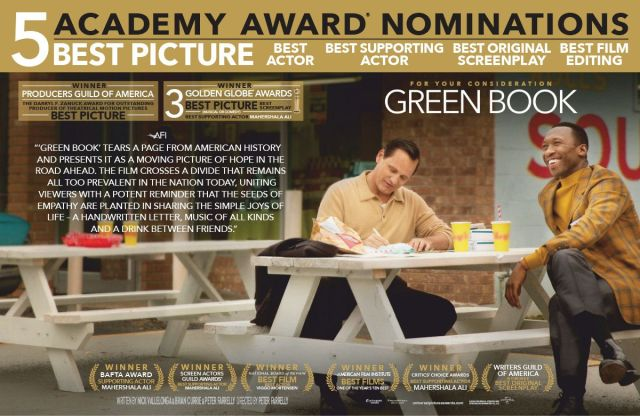 Part of the the FYC (For Your Consideration) ad campaign for 2019 Best Picture nominee Green Book.