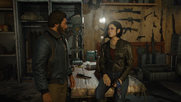 Call of Duty: Black Ops Cold War characters stand in a room full of ammunitions