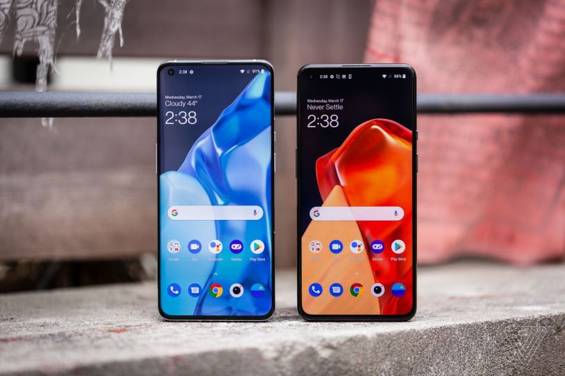 The OnePlus 9 has a slightly smaller screen