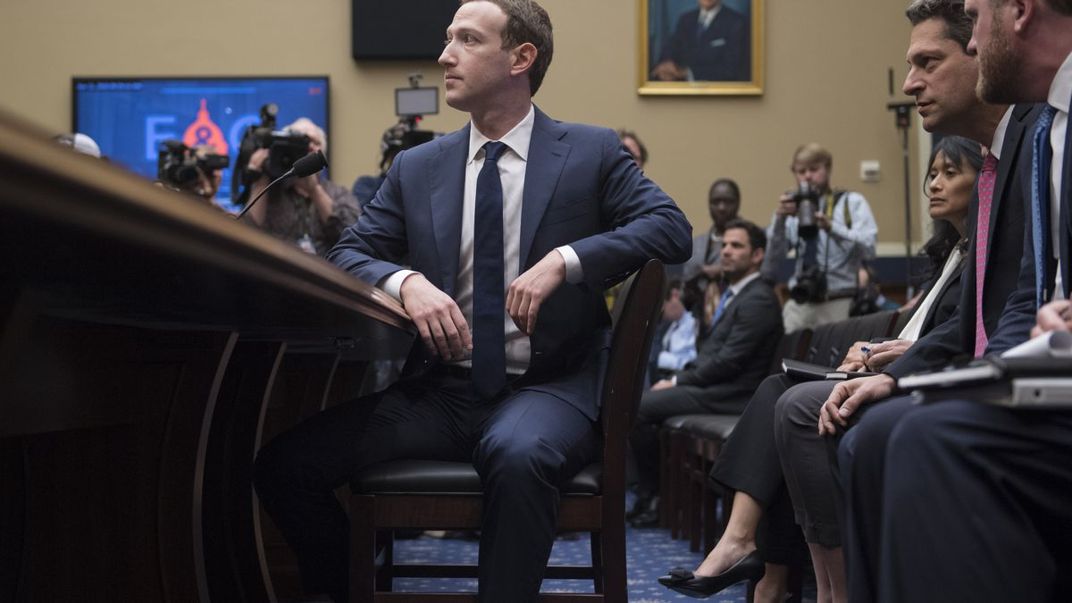 Facebook CEO Mark Zuckerberg Wears Suit for Congressional