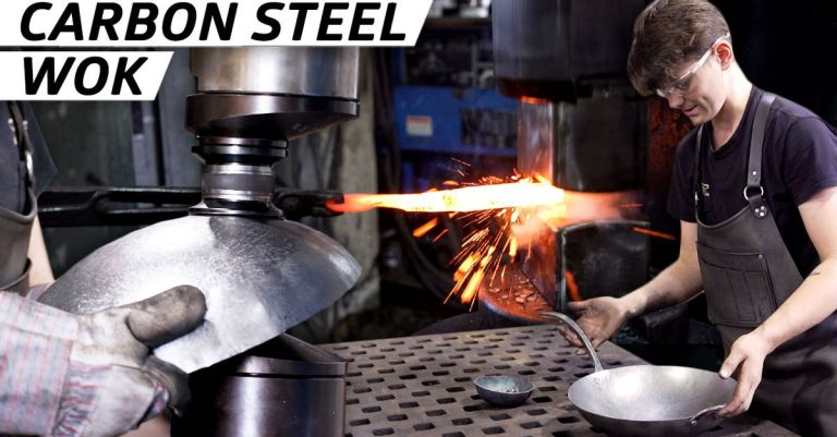 How Carbon Steel Woks Are Forged by Hand