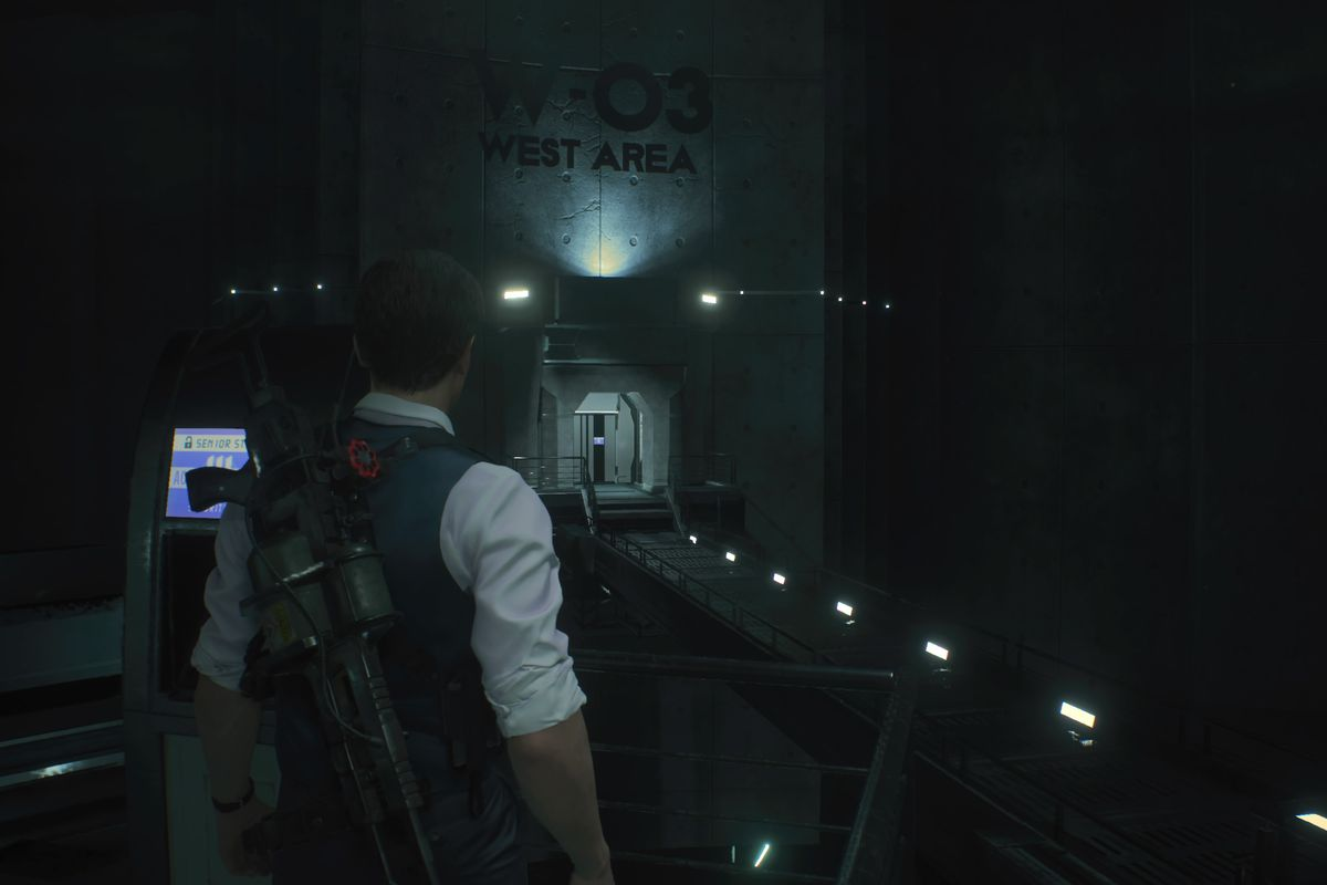 RE2 remake Leon 2nd West Area G Phase 3 boss fight