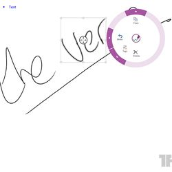 Microsoft's Courier-like radial menu for OneNote Windows 8