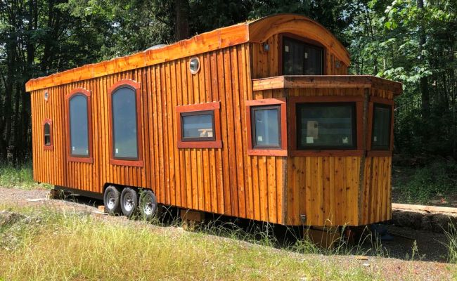Forest Boat Tiny House Listed In Bellingham For 120k