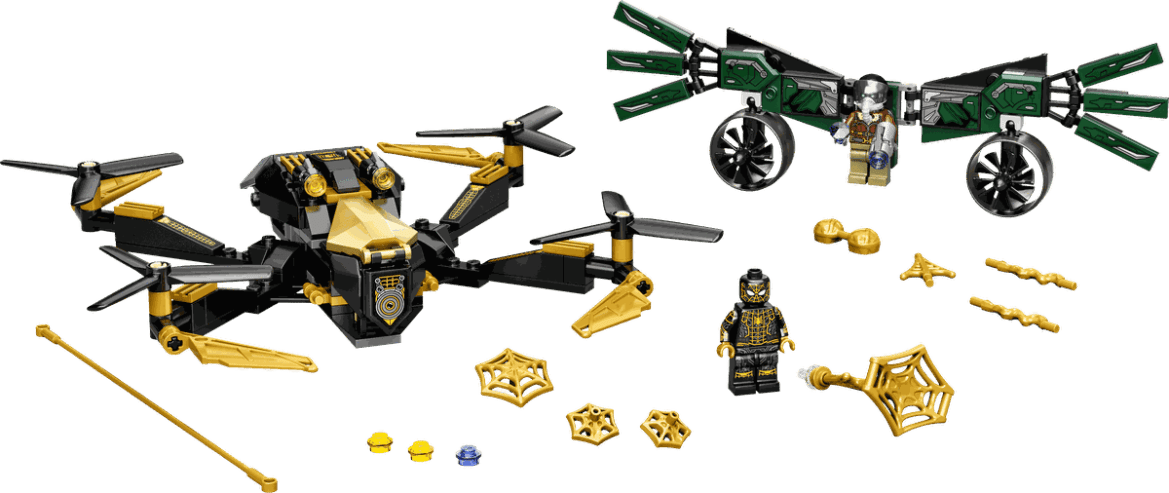 Lego toys and figures from Spider-Man: No Way Home