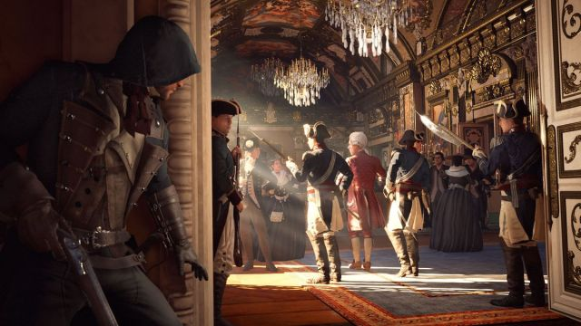Assassin's Creed Unity - tracking a target behind a corner