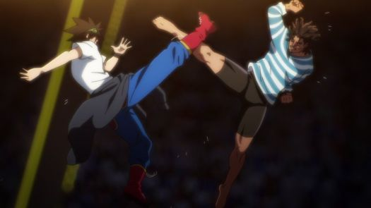 Jin Mori faces off against Gang Manseok in the 2019 anime The God of Highschool