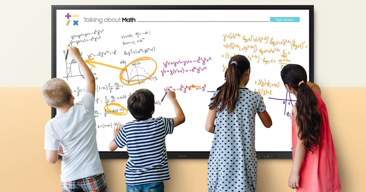 Samsung thinks its 85-inch Interactive Display is a digital whiteboard for the COVID-19 classroom