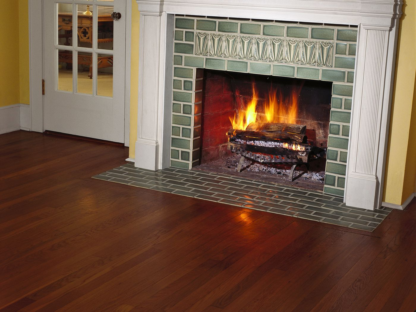 fireplace tile surround upgrade with