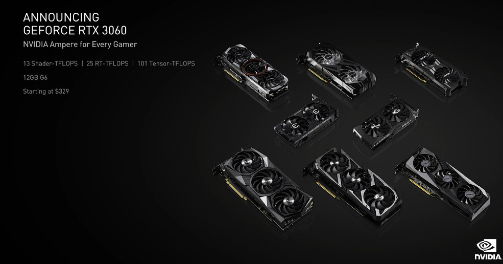 Nvidia announces 9 GeForce RTX 3060, available in February