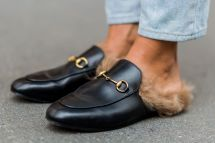 Gucci Fur Lined Slippers
