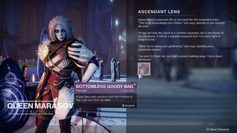 Mara Sov gives players a gift for turning in the Ascendant Lens