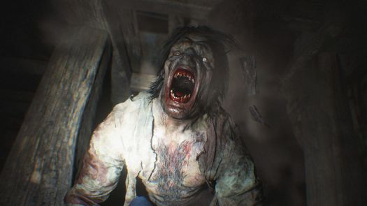 A werewolf-like beast from Resident Evil Village