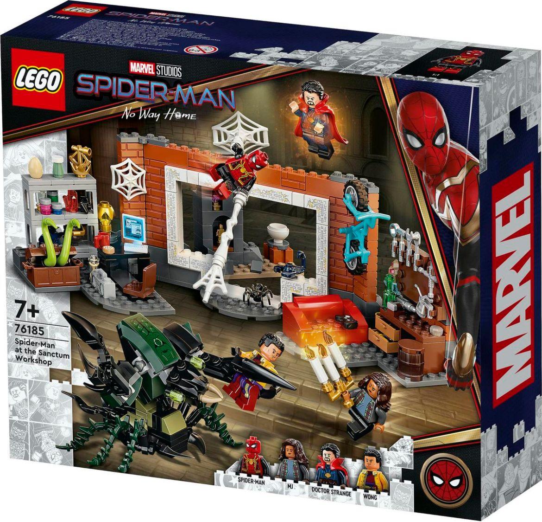 Product art for the Lego Spider-Man: No Way Home Sanctum Workshop set