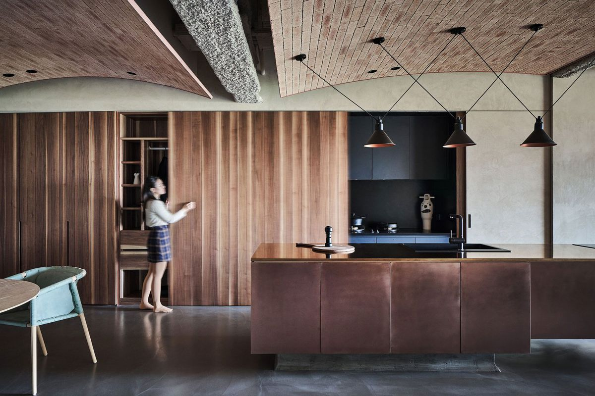 Moody Apartment Renovation Is All About Natural Materials Curbed
